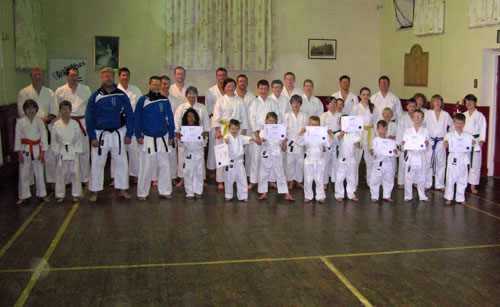Our new Bushido Warriors with the rest of the club.