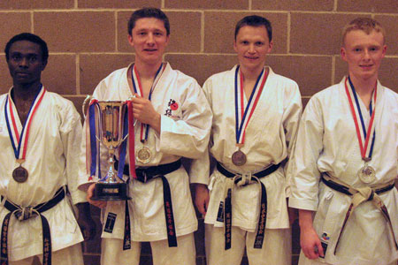 Tim Griffiths with the other finalists from the Senior Male Kata category