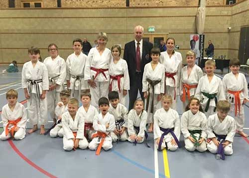 Successful club members at kyu grading