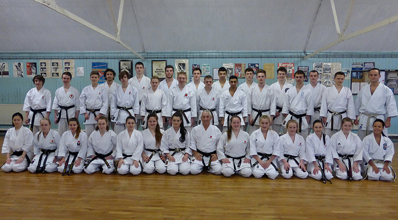 KUGB Kata squad, including Steven Connell and Tim Griffiths