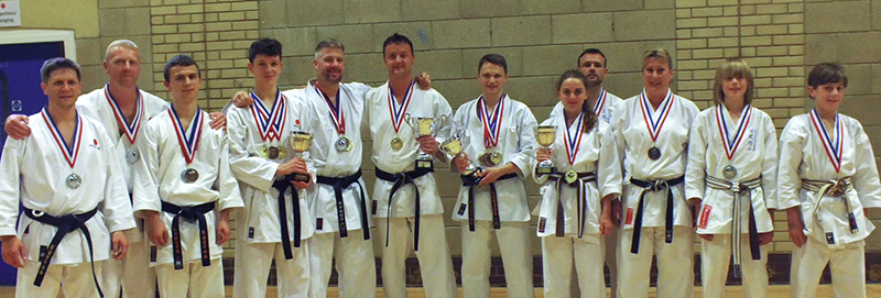 Backwell Karate medallists
