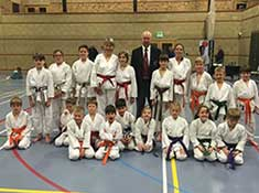 Some of the club's members at the grading and competition