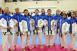 Backwell Karate competitors at the Legend Open