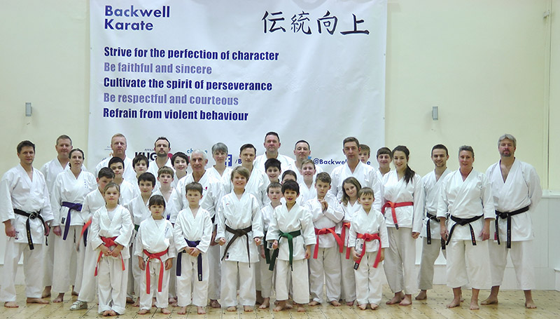 Sensei Sherry with club members