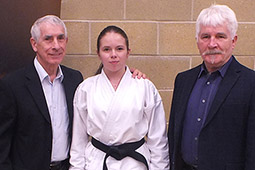 Charlie passes black belt